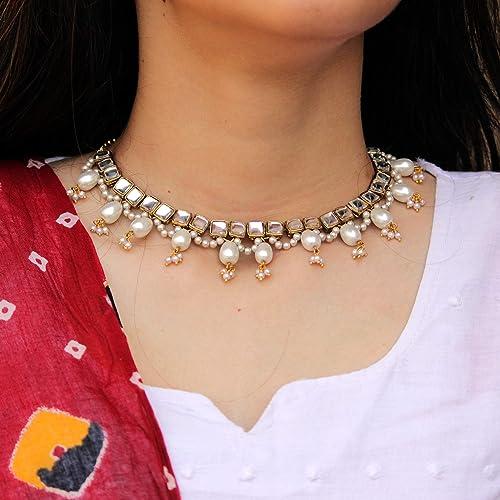 Handmade Pearl Necklace  Pearl Necklace  Pearl Earrings  Matching Pearl Set