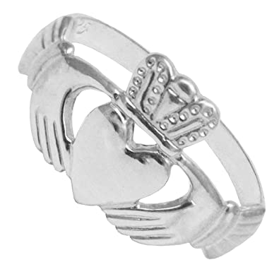 BJC© Sterling Silver Childrens / Child Dress Claddagh Ring Size A - M EzM5CKy