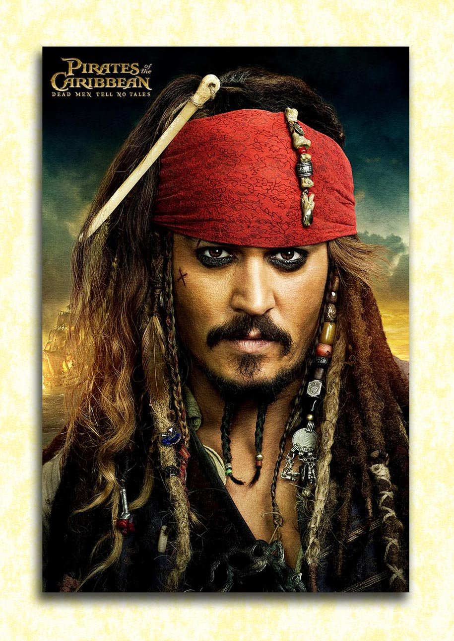 Tamatina Hollywood Movie Wall Poster Pirates Of The Caribbean Dead Men Tell No Tales Jack Sparrow Hd Quality Movie Poster Amazon In Home Kitchen