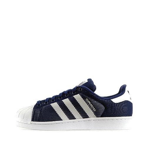 a45ad95cee6 adidas Originals Adidas Originals Superstar Weave - Zapatillas de malla  para hombre azul oscuro blanco 41 1 3 EU