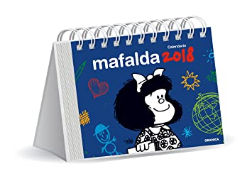 Granica Mafalda - Calendario de escritorio 2018, color azul