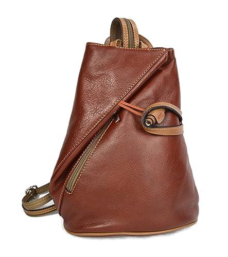 c0cfa3765b41 Luxury leather backpack travel bag weekender sports bag gym bag leather  shoulder ladies mens bag satchel original made in Italy honey   Amazon.co.uk  ...