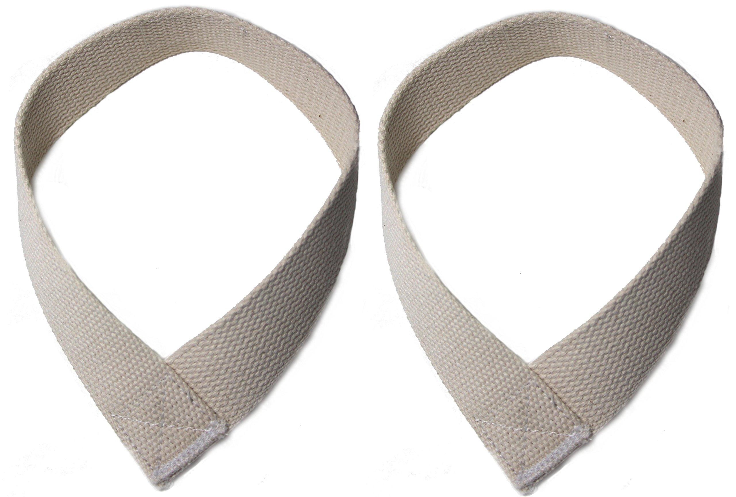 Serious Steel Heavy-Duty Speed Wrist Straps | White