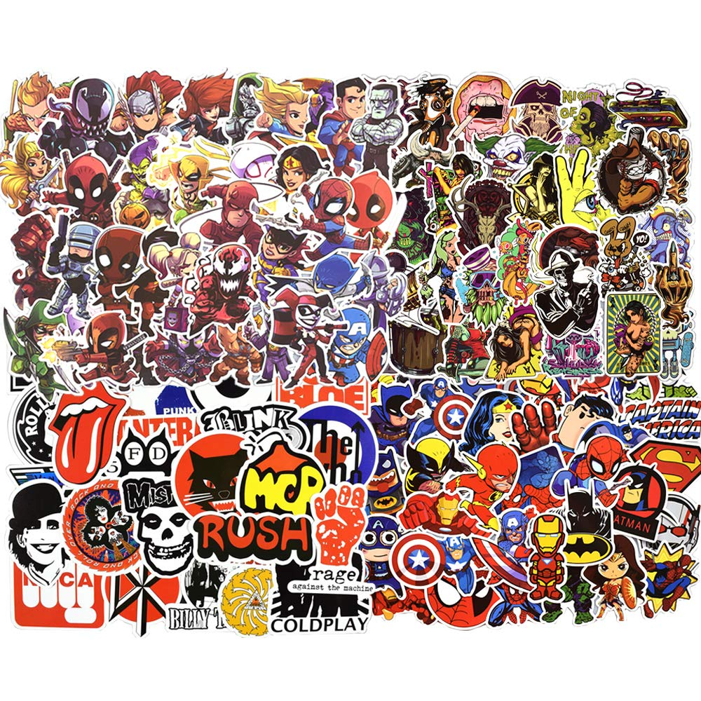 MMHDZ Car Stickers [100 pcs], Laptop Stickers Car Motorcycle Bicycle Luggage Decal Graffiti Patches Skateboard Stickers for Laptop - Random Sticker Pack