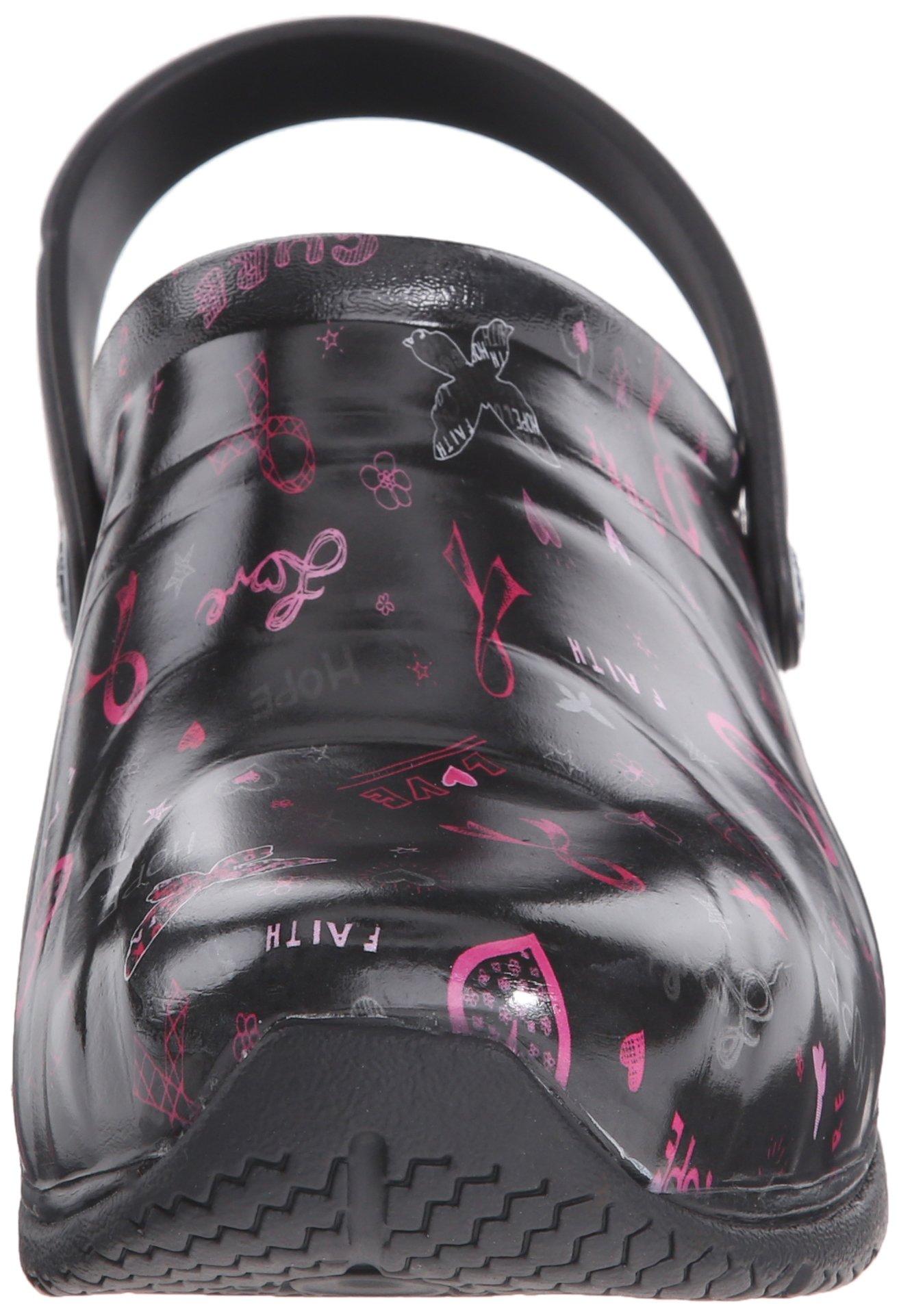 Anywear Women's Zone Work Shoe, Love Hope Cure/Pink Ribbon Print, 8 M US by Anywear (Image #4)