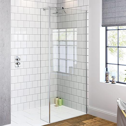 Mampara moderna de cristal para ducha con panel basculante, 900mm ...