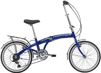 Cicli Cinzia: bicicleta plegable Hopper Aluminium 20, Blu Lucido