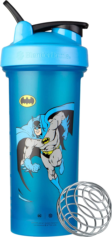 BlenderBottle Justice League Shaker Bottle, Classic V2, Retro Batman