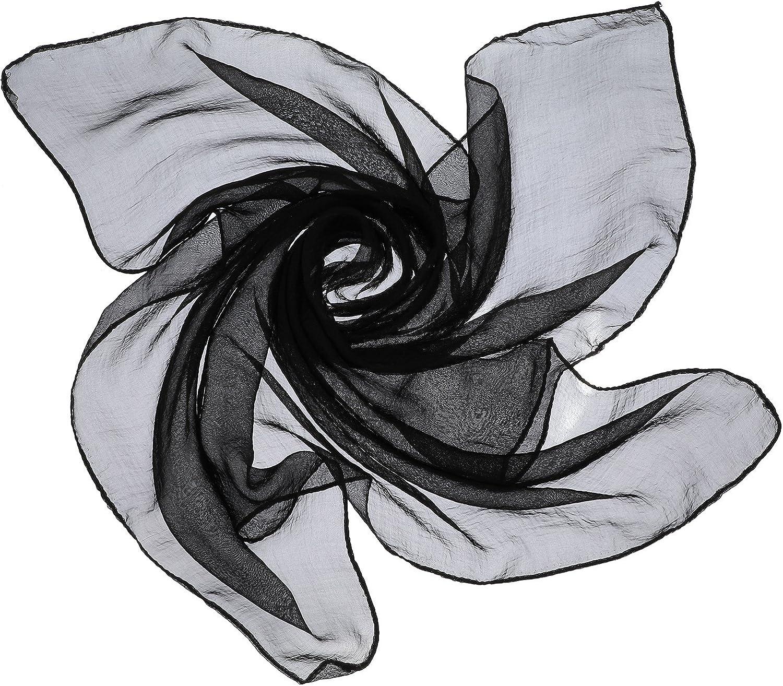 Satinior Chiffon Scarf Square Handkerchief Satin Ribbon Scarf Neck Scarf for Women Girls Ladies Favor