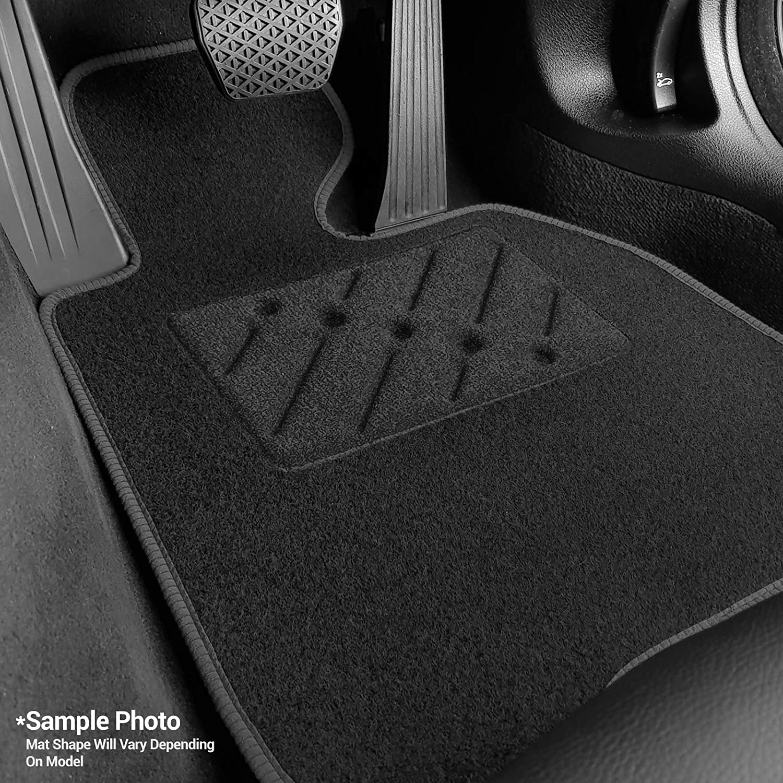 Car Mats to fit Captur Fully Tailored Car Mats Car Mats Black Carpet Rectangle Heel Pad 2013+ Black Ribbed Trim Durable Heel Pad Black
