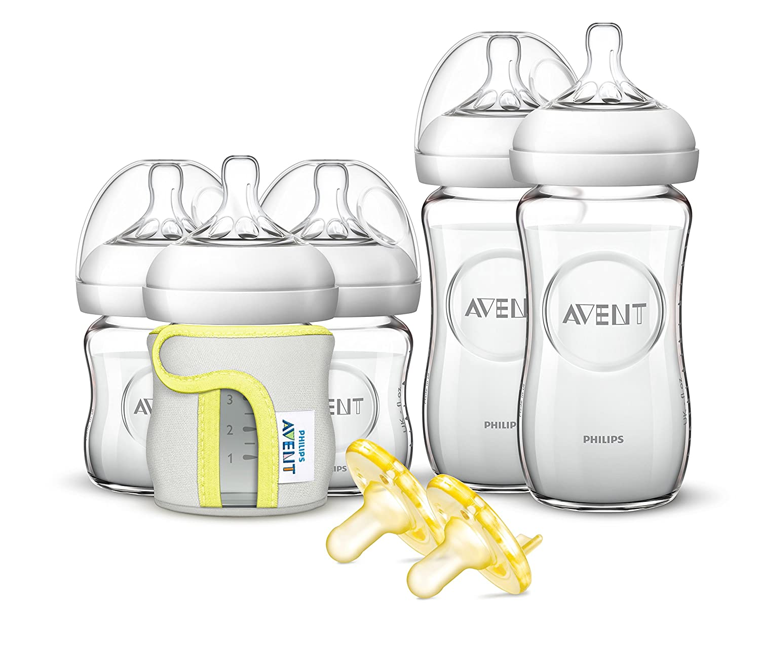 Philips Avent Natural Glass Baby Bottle Gift Set SCD291/01