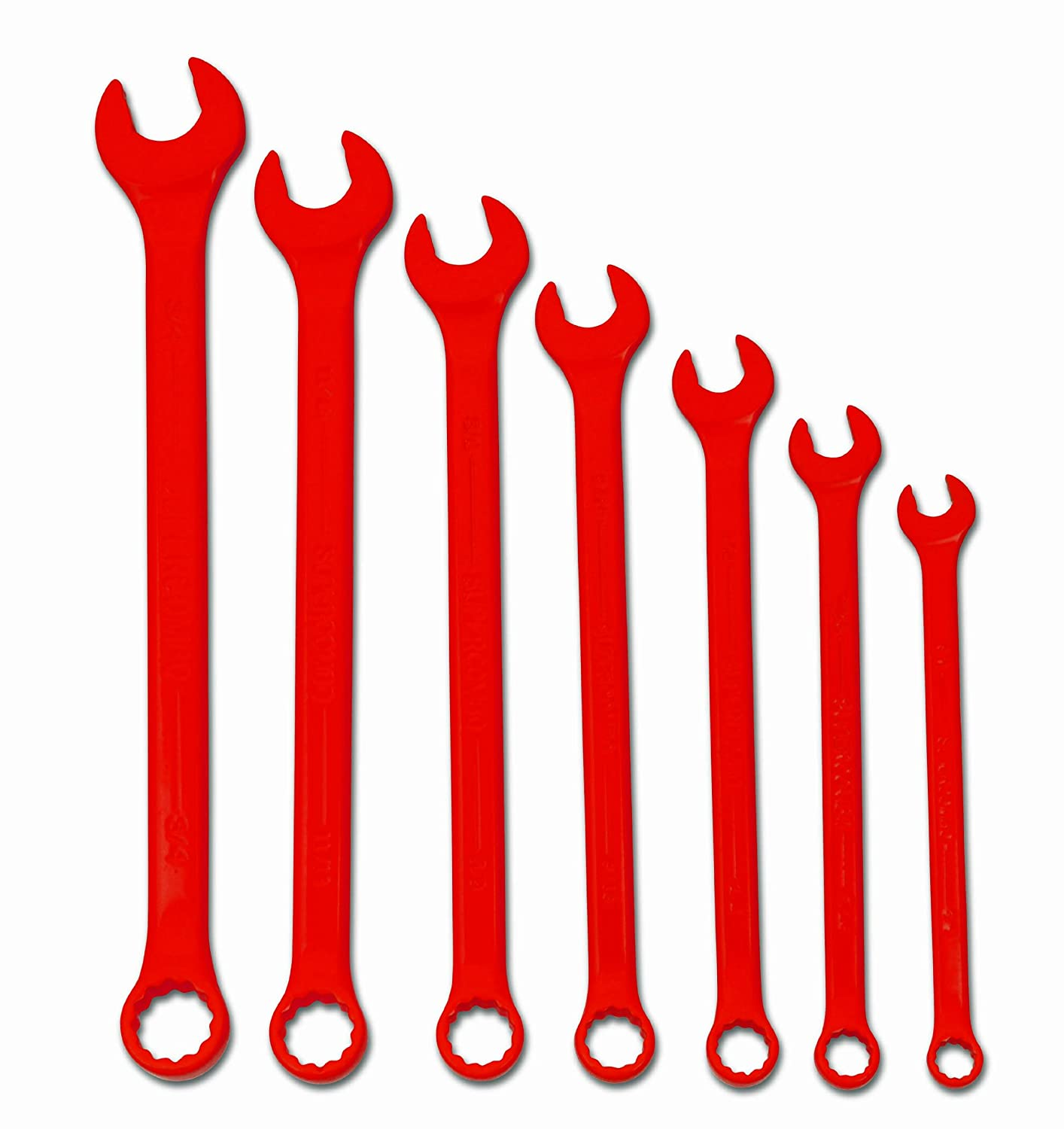 Williams WS-1171RSC 11-Piece Red Super Combo Combination Wrench Set