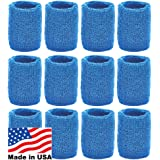 Unique Sports Wristbands / Sweatbands Pack of 12 (6 pair)