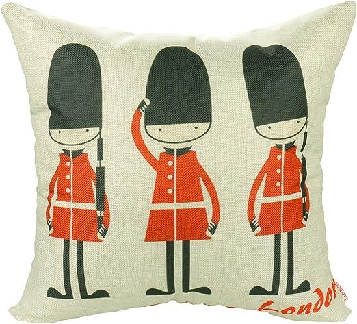 "18/"" UK Christmas Cushion Cover Pillow Case Linen Sofa Home Decor Cartoon Cute"