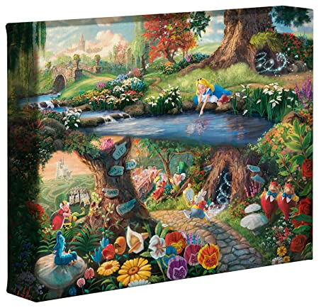 Thomas Kinkade Studios Alice In Wonderland 8 x 10 Gallery Wrapped Canvas