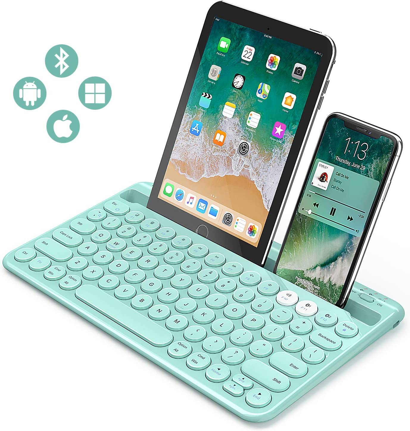 Teclado Bluetooth, Jelly Peb multidispositivo Universal Bluetooth ...
