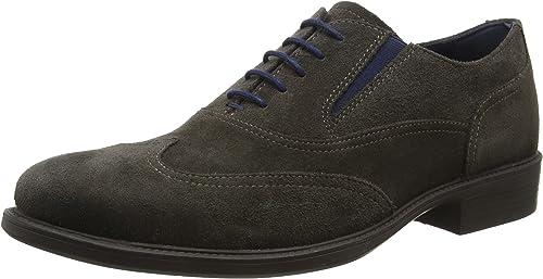 TALLA 42 EU. Geox Uomo Carnaby H, Zapatos de Cordones Oxford Hombre