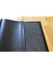 TrendMakers Barrier Mats Heavy Quality Non Slip Hard Wearing Barrier Mat. PVC Edged Heavy Duty Kitchen Mat Rug Available in 8 sizes (90cm x 150cm)-GREY w/ Black Speckled