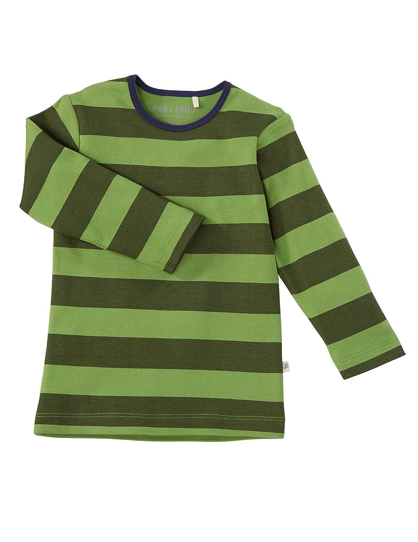 98//104 Bio Kinder Unterhemd Langarm 100/% Bio-Baumwolle kbA Gr/ün GOTS zertifiziert