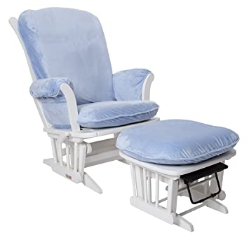 luxe basics cover me glider chair cover chair not included baby blue