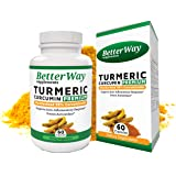 Organic Tumeric Curcumin Supplement with Bioperine - Anti-Inflammation Antioxidant and Joint Pain Relief Supplement - 500mg Turmeric Pills with 95% Standardized Curcumin Extract in Veggie Capsules