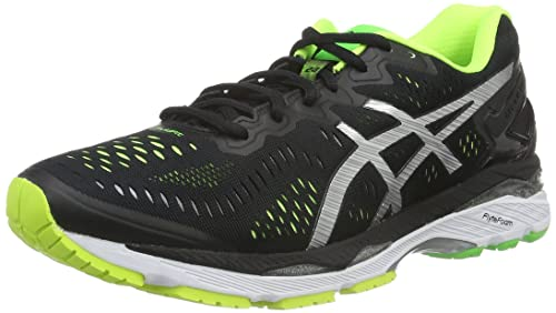 Scarpe Asics Gel Kayano 23 T646N 9093 Uomo Running Black Silver Yellow Sneakers