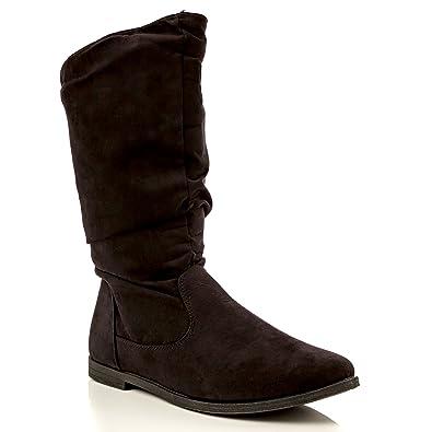 Women's Basey Comfortable Slouchy Flat Mid-Calf Boot