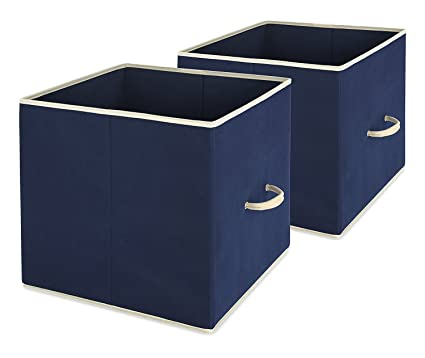 Whitmor Collapsible Storage Bin, Set Of 2   Foldable Cloth Storage Cube U2013  Perfect Organizer