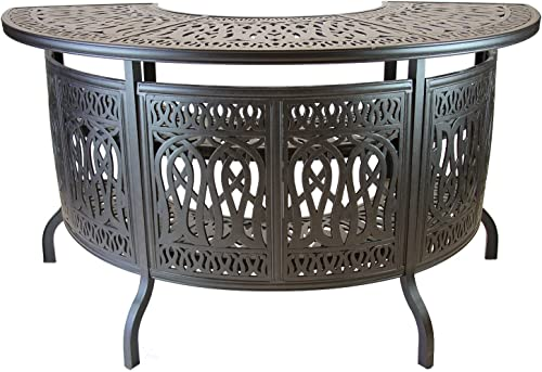 theWorldofpatio Elizabeth Cast Aluminum Powder Coated Party Bar Table – Antique Bronze