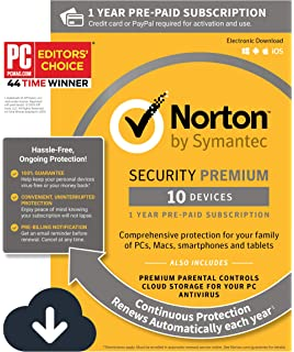 Amazon com: Norton Security Deluxe – 5 Devices – Free Trial: Software
