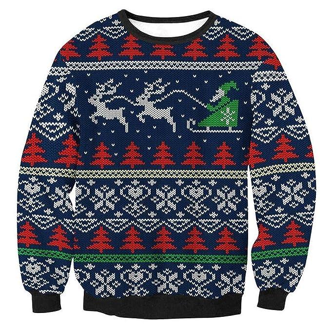 offerta speciale vari tipi di ordine Donna Pullover Natale Stampate Felpe Casual Maglia di Natale ...