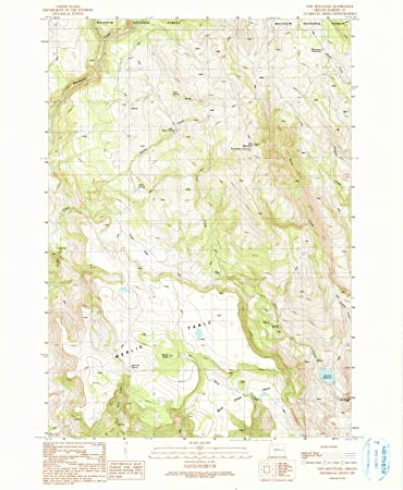 Amazon Com Yellowmaps Otis Mountain Or Topo Map 1 24000 Scale