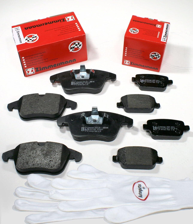 hinten Autoparts-Online Set 60011289 Zimmermann Bremsbel/äge//Bremskl/ötze//Bremsen f/ür vorne