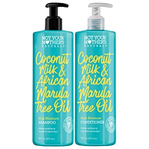 Not Your Mother's Naturals High Moisture Coconut Milk & Marula Oil Shampoo & Conditioner Dual Pack, 16 Count