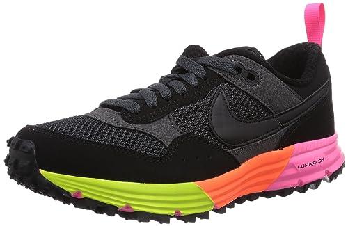 Nike - Zapatillas de running Lunar Pegasus Trail, unisex, Negro (Black/Black-Anthracite-Frc Grn), 40: Amazon.es: Zapatos y complementos