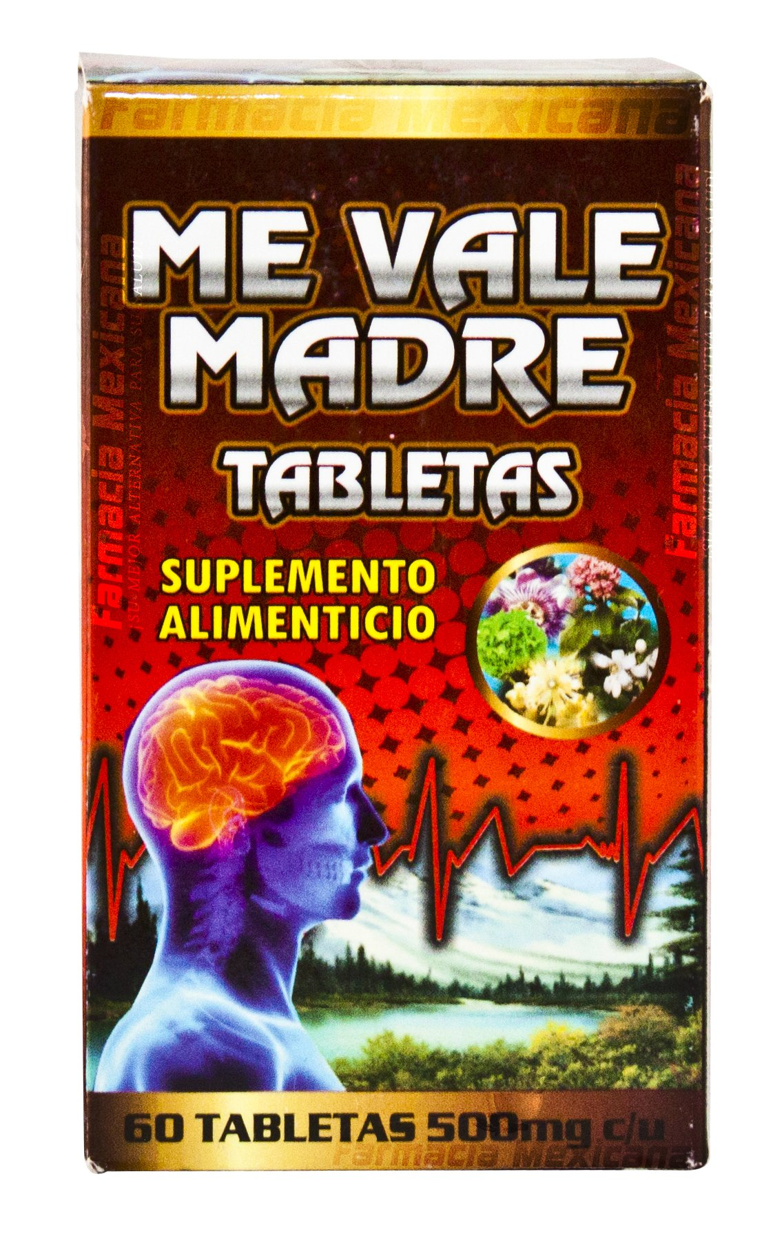 Me Vale Madre Tablets - Stress, Anxiety, & Nervousness 60 Tablets