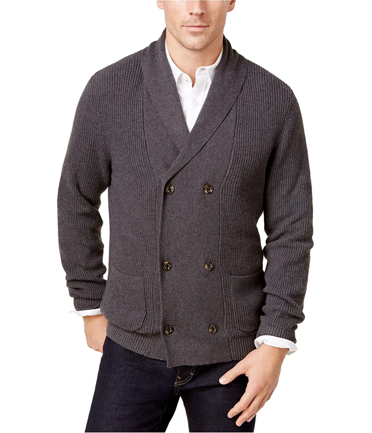 Tasso Elba Mens Double-Breasted Cardigan Sweater