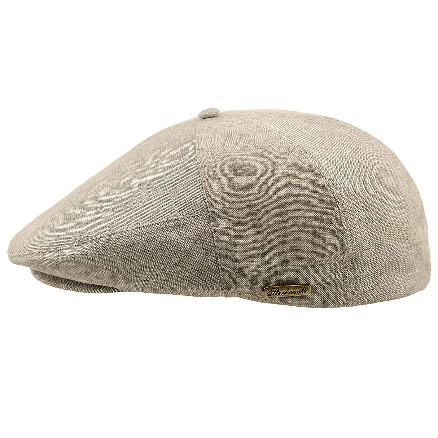 Sterkowski Light Breathable Linen Summer 5 Panel Flat Cap at Amazon Men s  Clothing store  6410913a31a