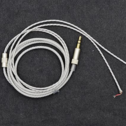 White Replacement Cable repair cord For KOSS Porta Pro Portapro kossPP Headphone (NO mic)