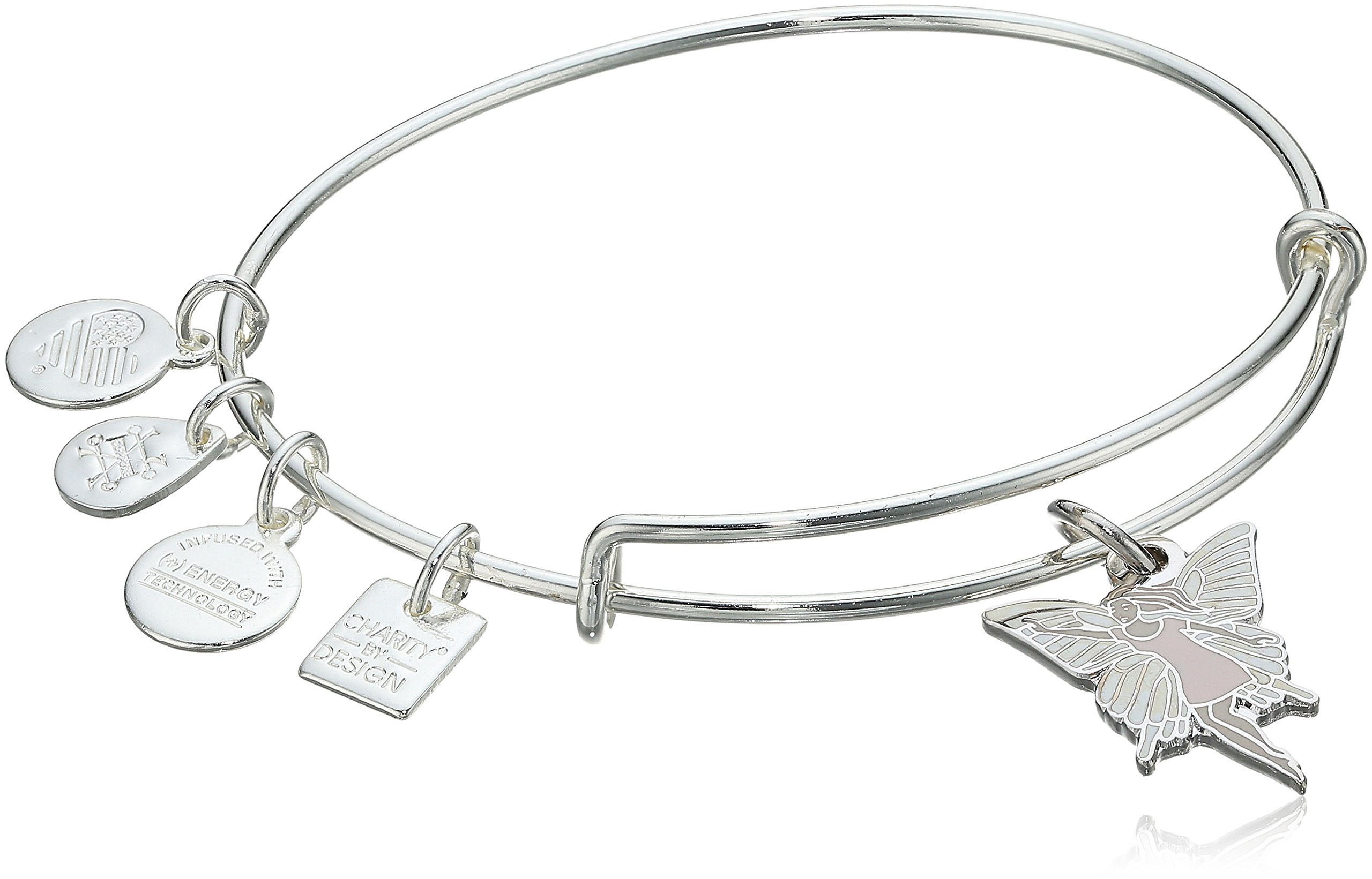 Alex and Ani Charity By Design Fairy Shiny Silver Bangle Bracelet