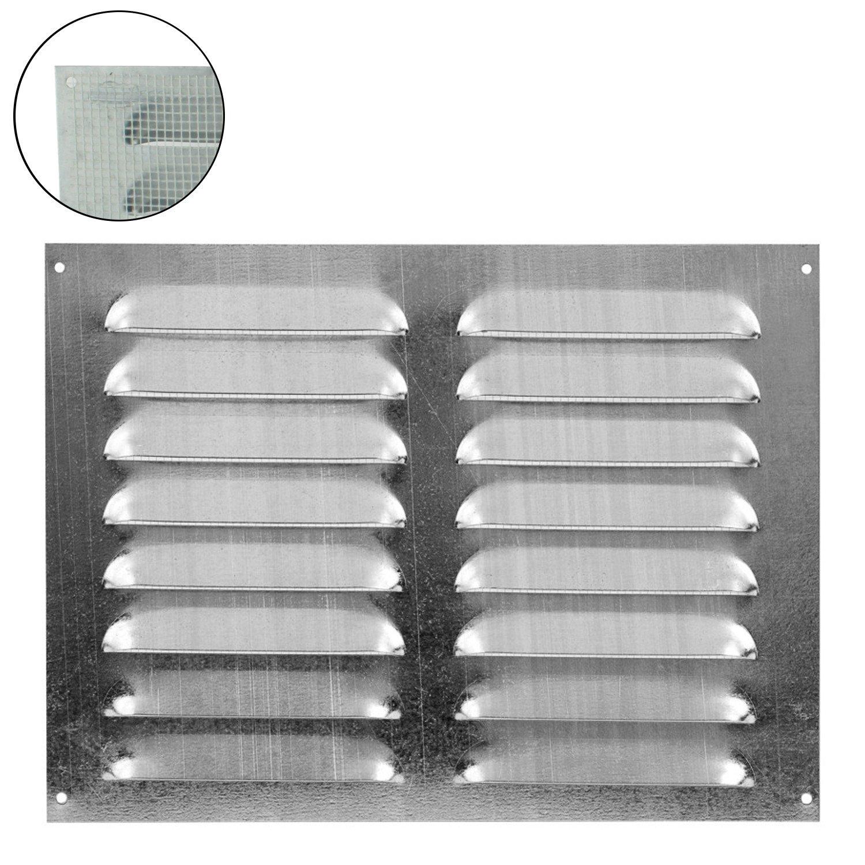 L/üftungsgitter Wandgitter Abschluss Metallgitter Abluft Zufluft Insektenschutz 255 mm x 100 mm wei/ß 18527-001 MKK
