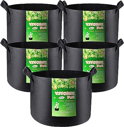 Non-woven Garden Plant Grow Bag Flower Pot Container Multi Gallon Chic Cute