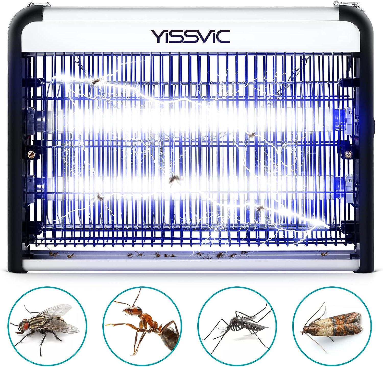 YISSVIC Lámpara Antimosquitos Eléctrico Lámpara Mata Insectos Eléctrico 20W con Luz UV para Mosquitos, Polillas, Zancudos, Moscas, y Más Insectos