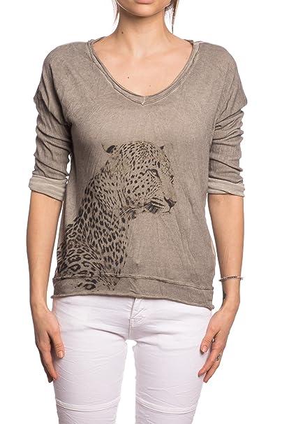 Abbino 12883 Camisa Blusa Top para Mujer - Hecho en ITALIA - 6 Colores - Entretiempo