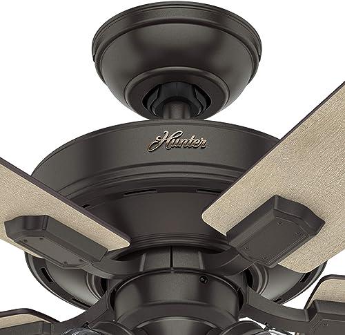 Hunter Fan 52 inch Casual Noble Bronze Finish Indoor Ceiling Fan