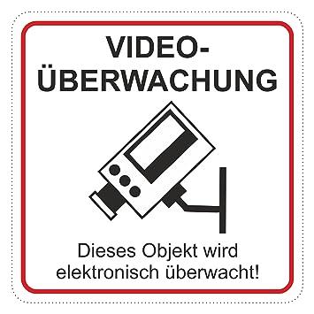 Aufkleber Videouberwachung 65 X 65 Mm Schneller Versand