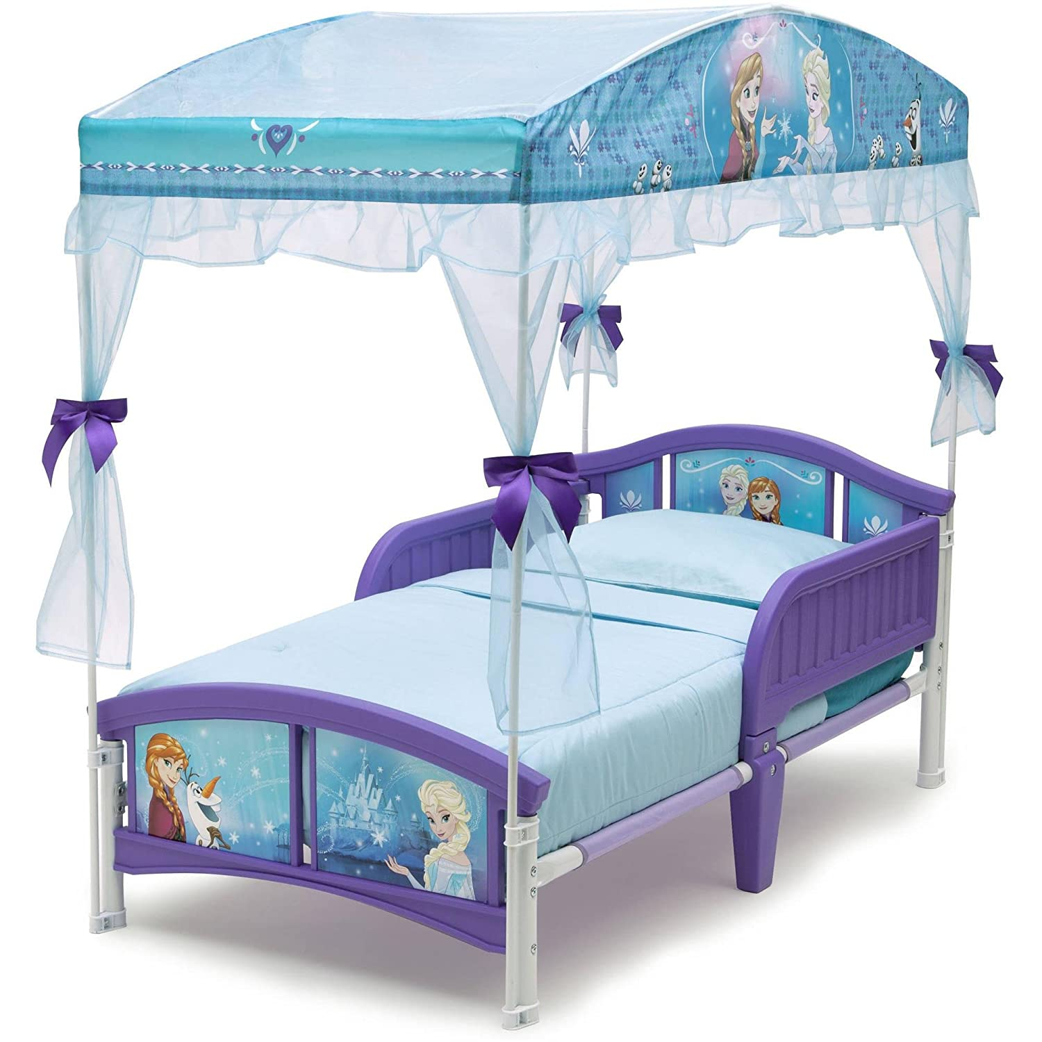 Amazon.com : Delta Children Canopy Toddler Bed, Disney Frozen : Baby