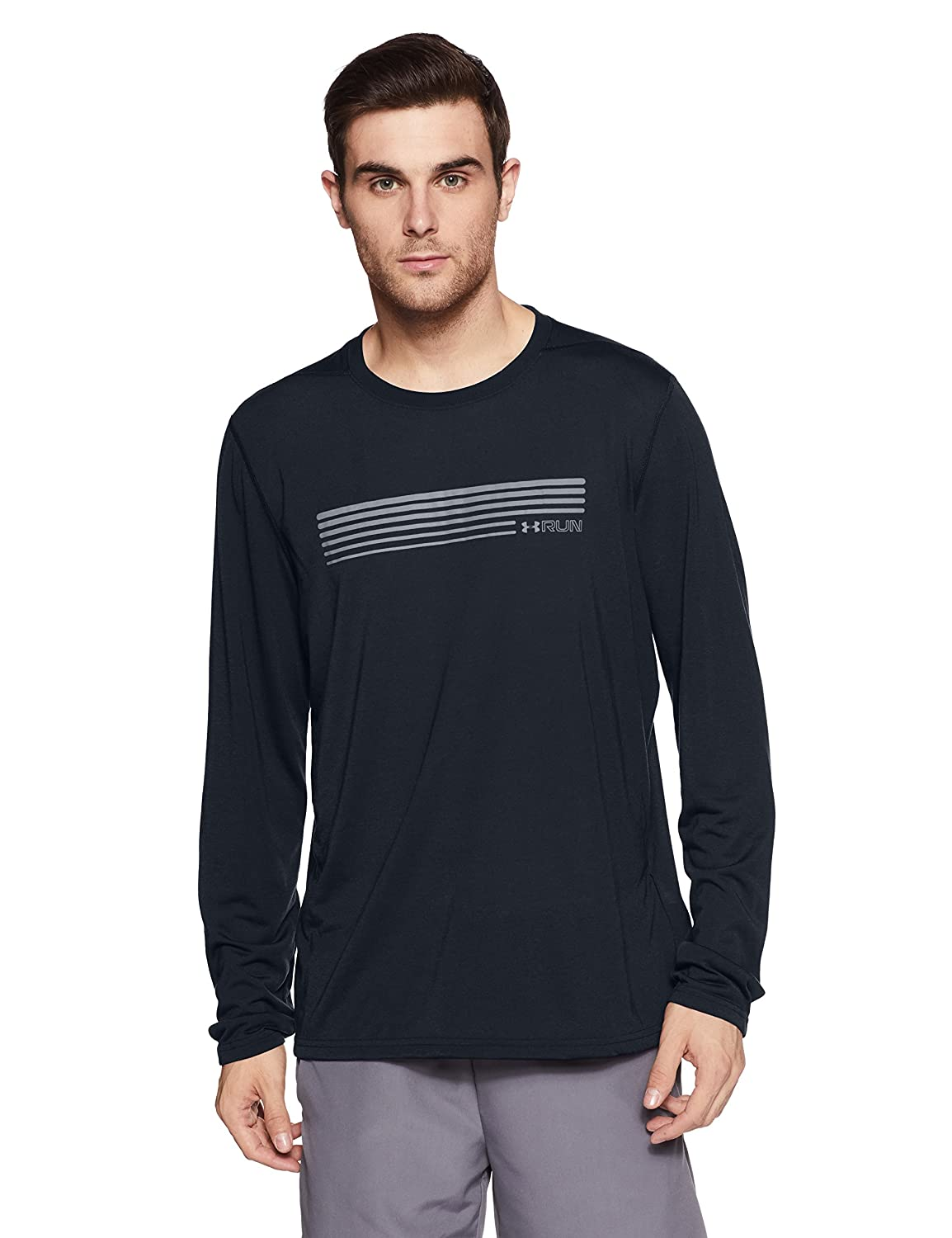 TALLA M. Under Armour UA Run Graphic LS Camisa de Manga Larga, Hombre