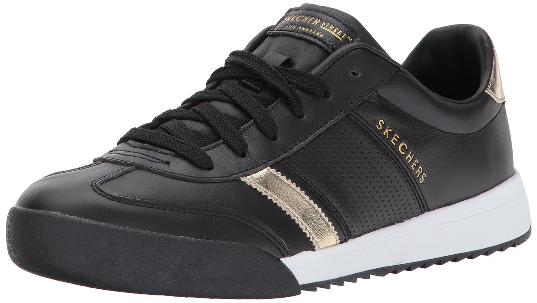 Skechers Women's Zinger-Flicker Sneaker B06XBVS3D4 5.5 B(M) US|Black/Gold