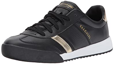 Skechers Damen Sneaker Schwarz Schwarz 37